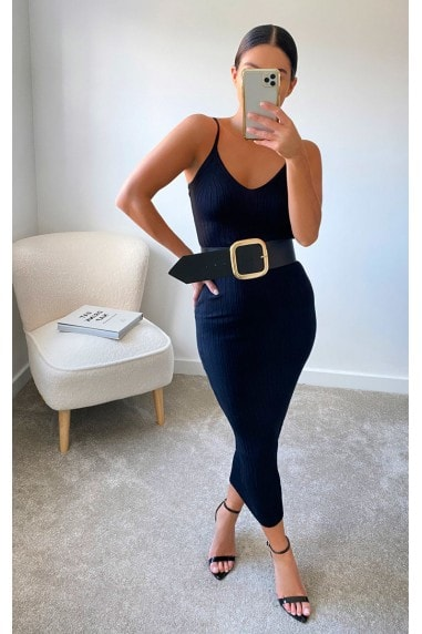 Tes Knitted Bodycon Dress