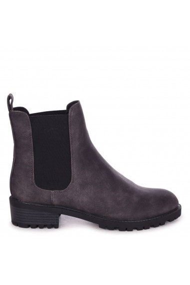 ACE - Grey Nubuck Classic Chelsea Boot With Elasticated Gusset