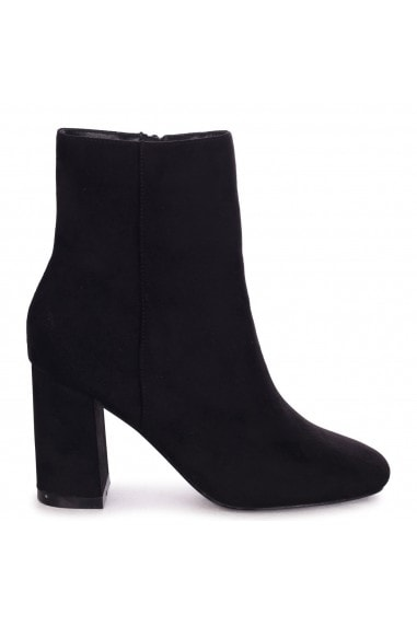 SCOUT - Black Suede Classic Block Heeled Ankle Boot
