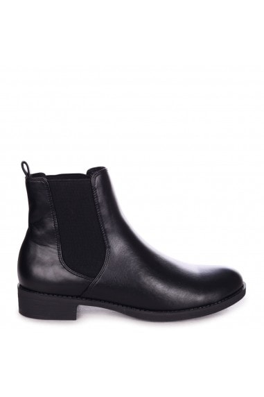 WILLOW - Black Nappa Classic Chelsea Boot With Elasticated Gusset
