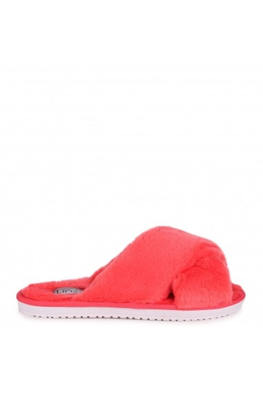 CLOUD - Coral Fluffy Crossover Slippers