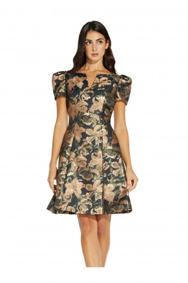 Lily Jacquard Fit And Flare Dress