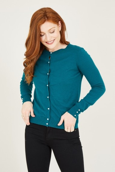 Teal Knitted Cardigan