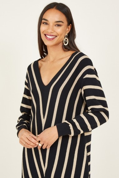 Black Chevron Tunic Dress