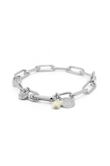 Ukelele Silver Plated Chain Charm Bracelet