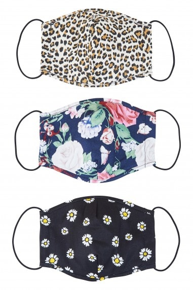 Mix Printed Face Mask Pack Of Three