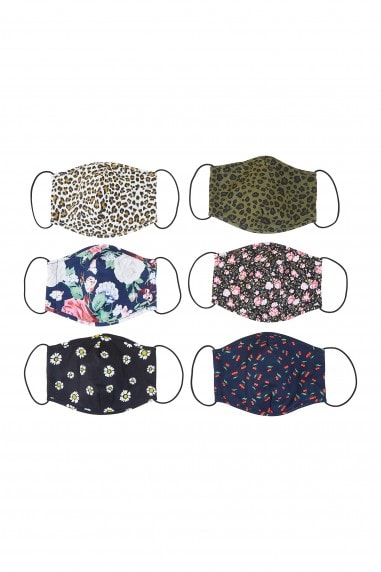Mix Printed Face Mask Pack Of Six