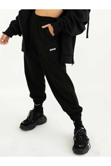 Loose Fit Black Mix & Match Baggy Jogger