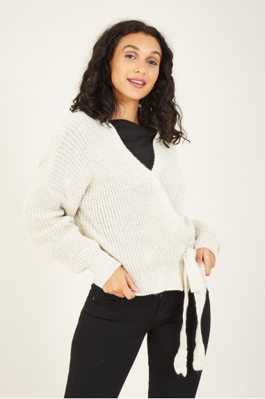 Knitted Side Knot Cardigan