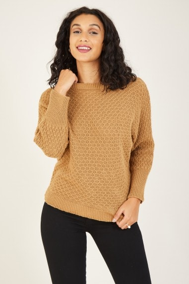 Knitted Batwing Jumper