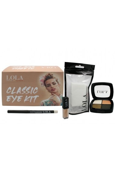 Lola Make up Eye Classics, Quad Eye Shadow, Automatic Eye Pencil Naked 007, Liquid eye Concealer Nr.6 plus free Trinagles
