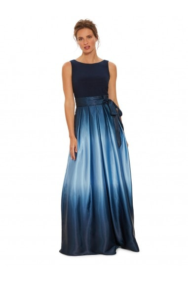 Indie Ombre Satin Maxi Dress