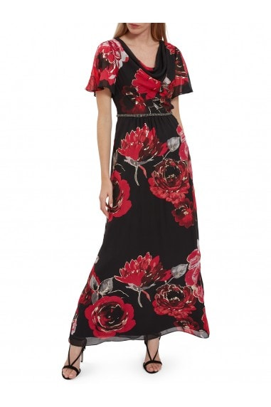 Mallie Cowl Neck Floral Maxi Dress