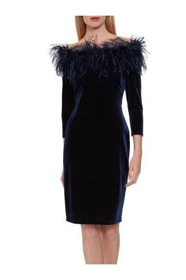 Dania Feather Trim Dress