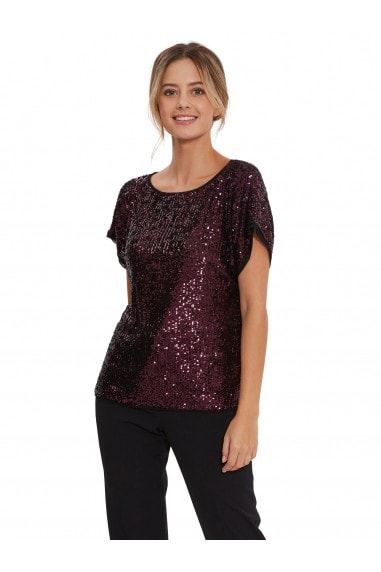 Lupe Stretch Sequin Top