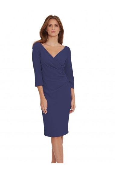 Keelia Crepe Wrap Dress
