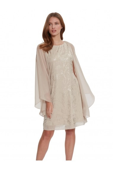 Berkley Floral Dress And Chiffon Cape