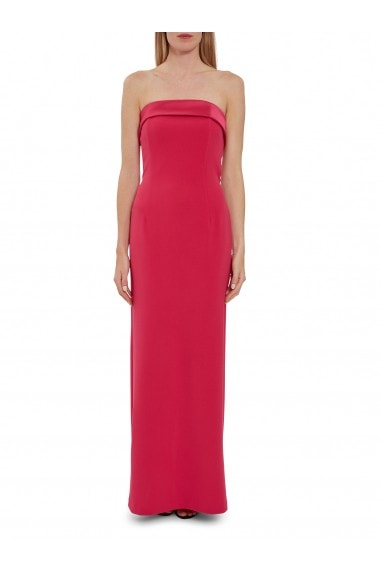 Maria Crepe And Satin Maxi Dress