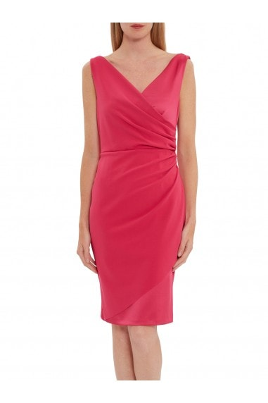 Loni Soft Stretch Crepe And Satin Dress