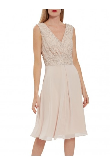 Gracie Metallic Corded Lace Dress