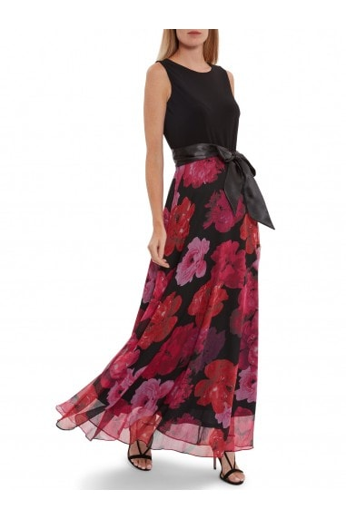 Arella Jersey And Floral Maxi Dress