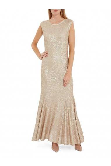 Basanti Stretch Sequin Maxi Dress