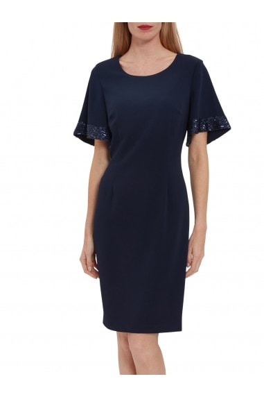 Arla Dress With Sequined Sleeve Hem