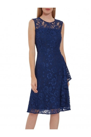 Lilita Corded Lace Waterfall Frill Dress