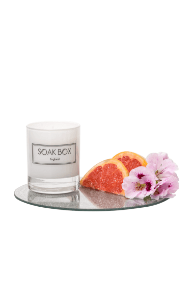Geranium, Grapefruit & Patchouli, Naturally Scented Candle