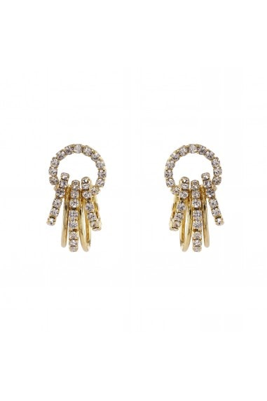 CRYSTAL RINGS ON RING STUD EARRING