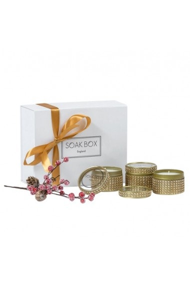 Christmas Glam Soy Wax Candle Trio