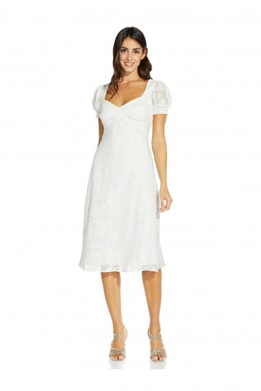 Chiffon Jacquard Tie Dress