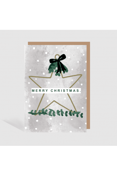 RUSTIC STAR MERRY CHRISTMAS LUXURY CARD