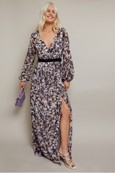Denise Grey Abstract-Print Maxi Dress