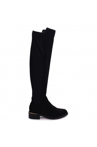 APOLLO - Black Suede Over The Knee Long Boot
