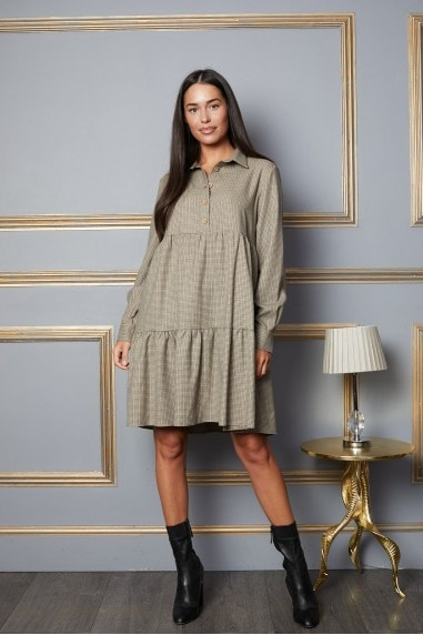 M Tiered Casual Dress