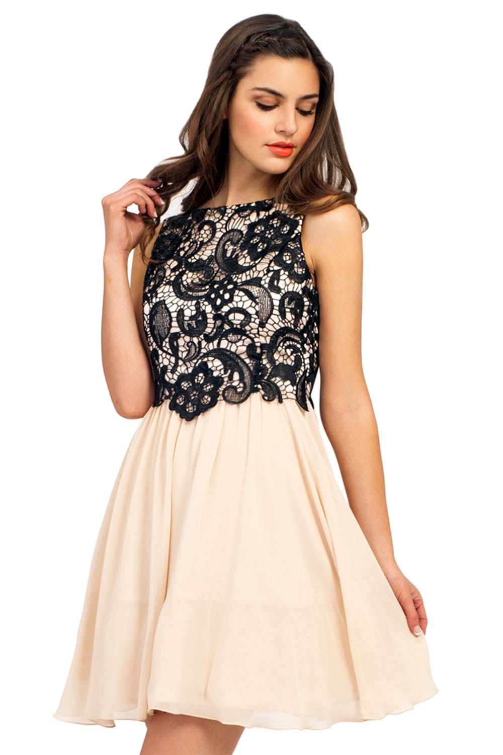 From the office to the office party lace dresses can go anywhere with you. Add a blazer for those cooler days or some fashion jewelry and pumps with your black lace dress for cocktail hour. From sheath to the flirty fit and flare the intricate details of our lace overlay dresses are sure to impress time and time again.