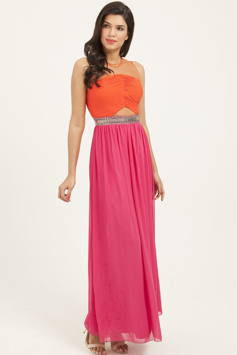 Pink and Orange Dress | Dress images