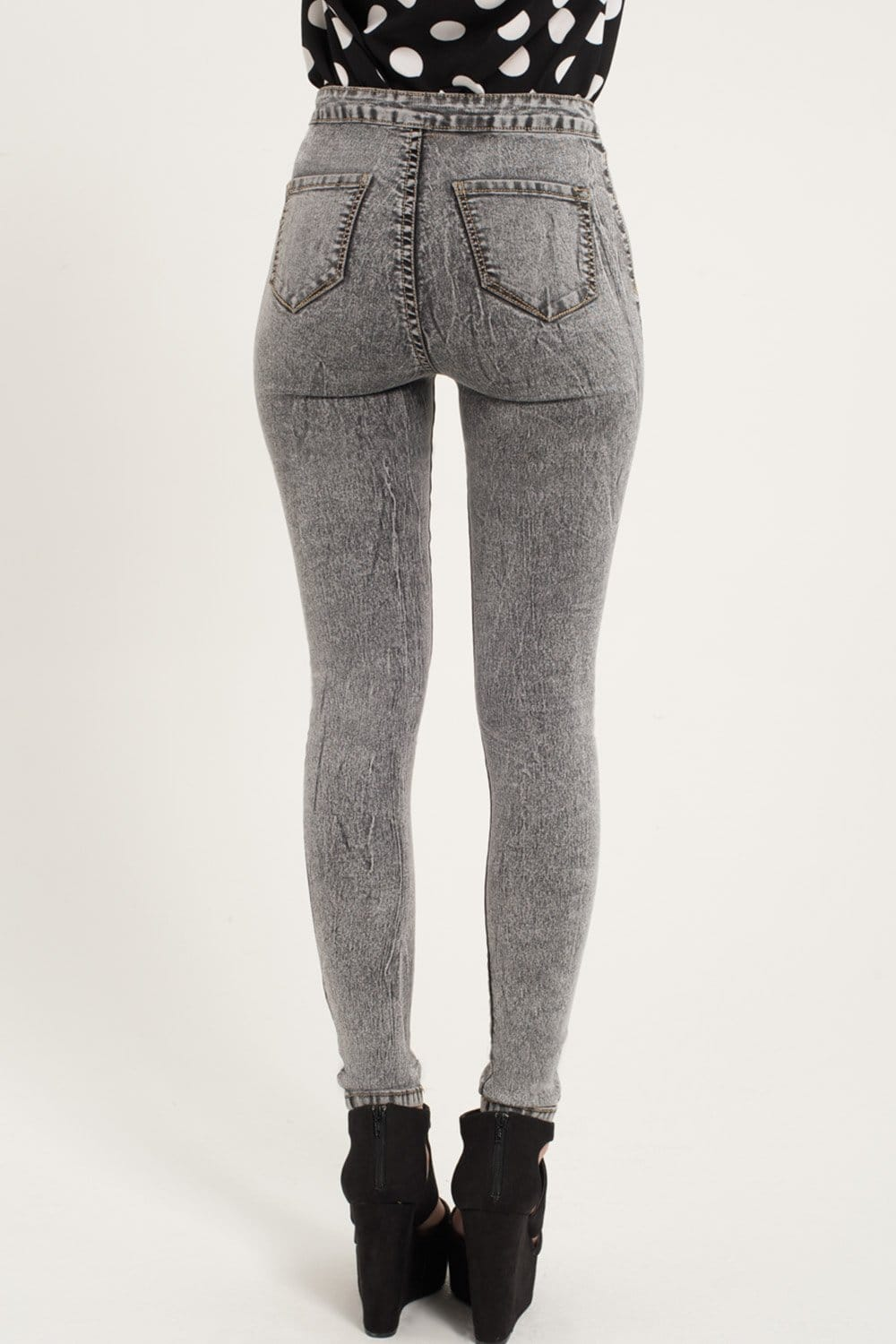 Girls on Film Grey High Waisted Skinny Jeans - Girls On Film from