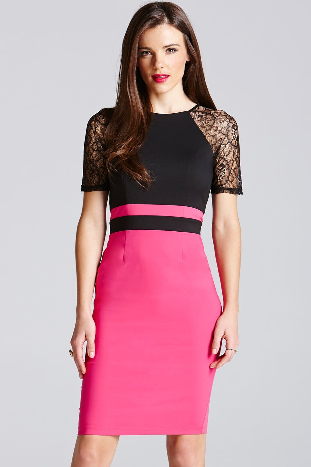 Shop pink lace dress at Neiman Marcus, where you will find free shipping on the latest in fashion from top designers.