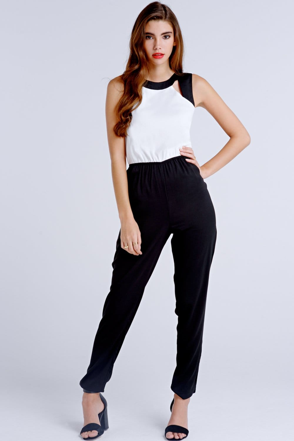 0b59c3a66c9 Girls on Film Black and White Jumpsuit