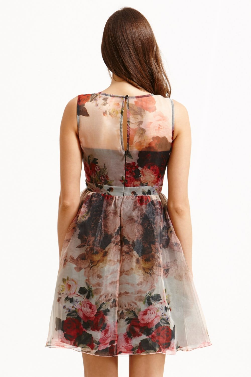 Floral Organza Fit And Flare Dress From Little Mistress Uk