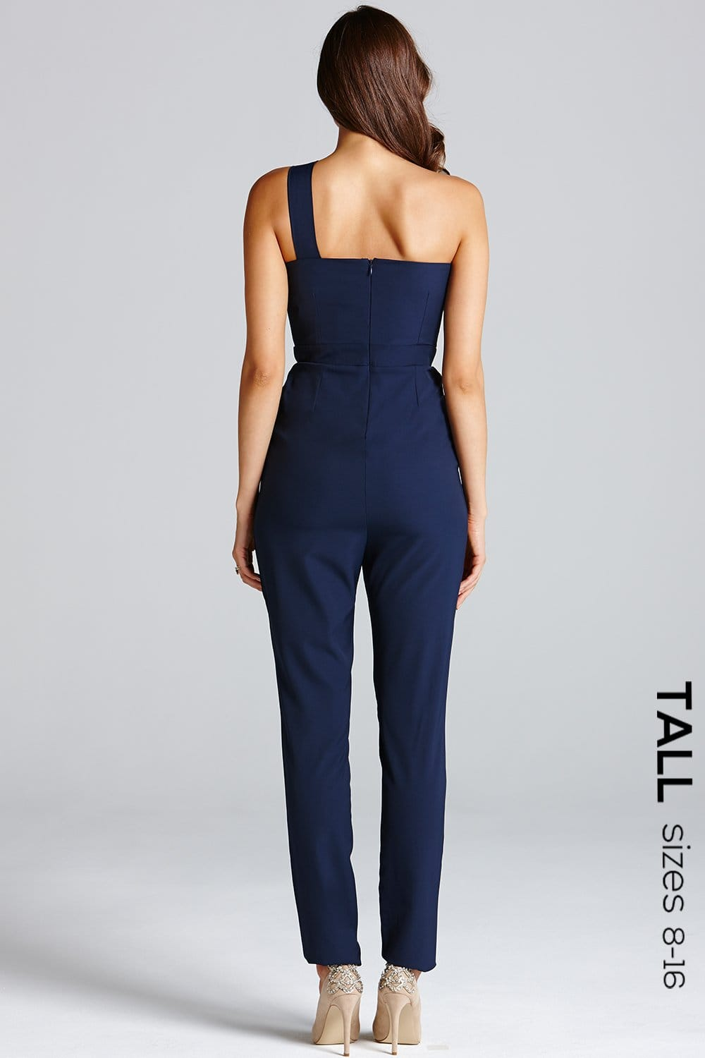 533c78babe2 Navy One Shoulder Cut-Out Jumpsuit - from Little Mistress UK