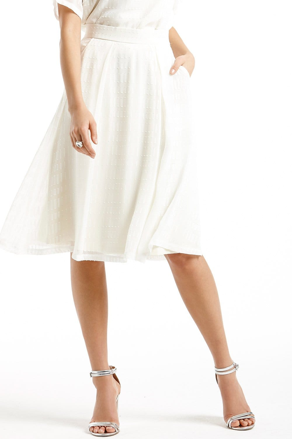 White Sheer Layered A Line Skirt - from Little Mistress UK