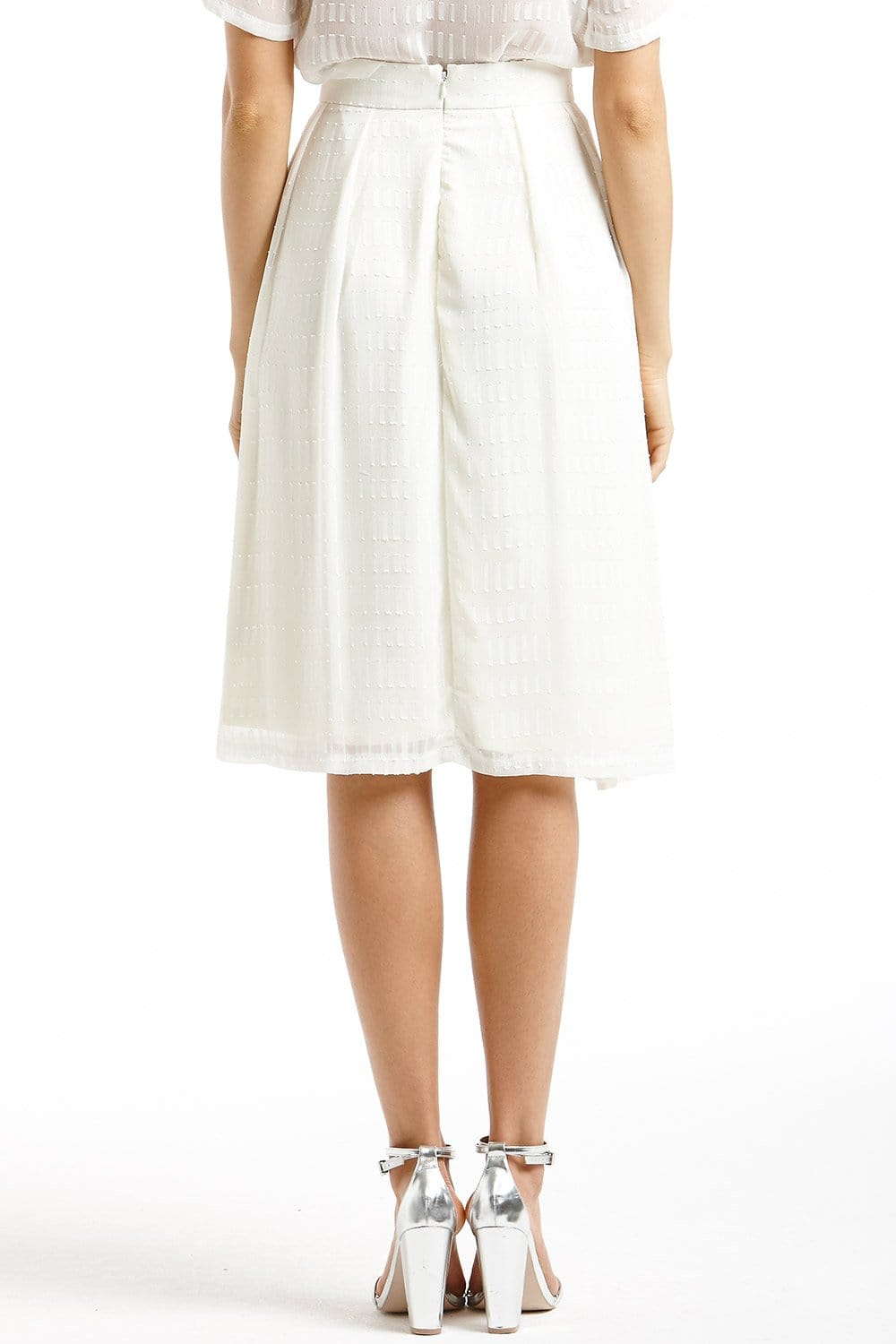 white sheer layered a line skirt from uk