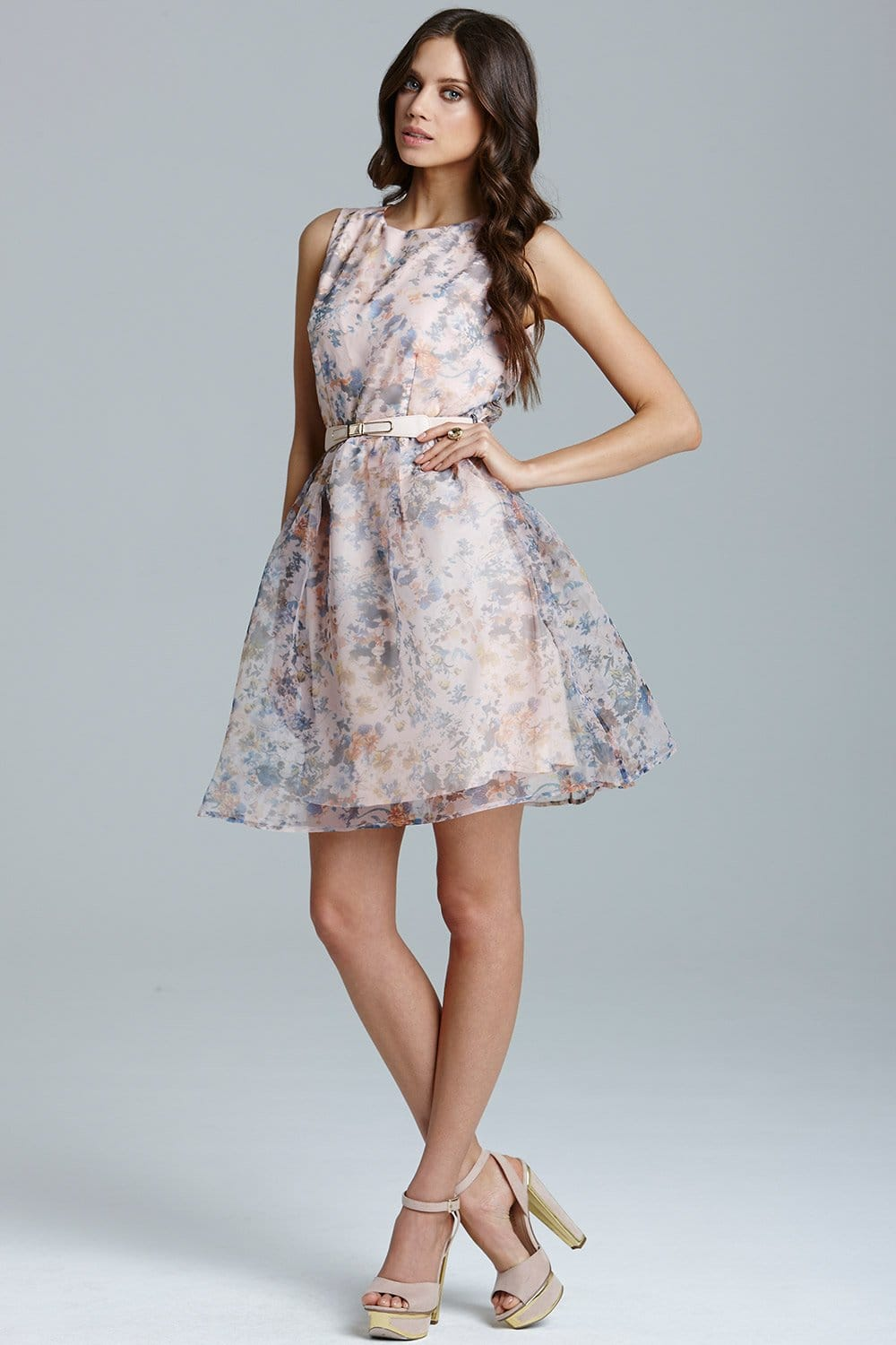Floral Organza Prom Dress From Little Mistress Uk
