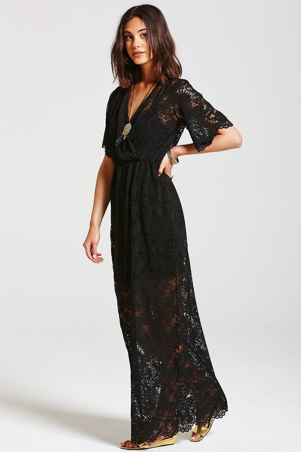3b1b4a143a35 Outlet Girls On Film Black Layered Lace Maxi Dress - Outlet Girls ...  Outlet Girls On Film Black Layered Lace Maxi Dress Outlet Girls