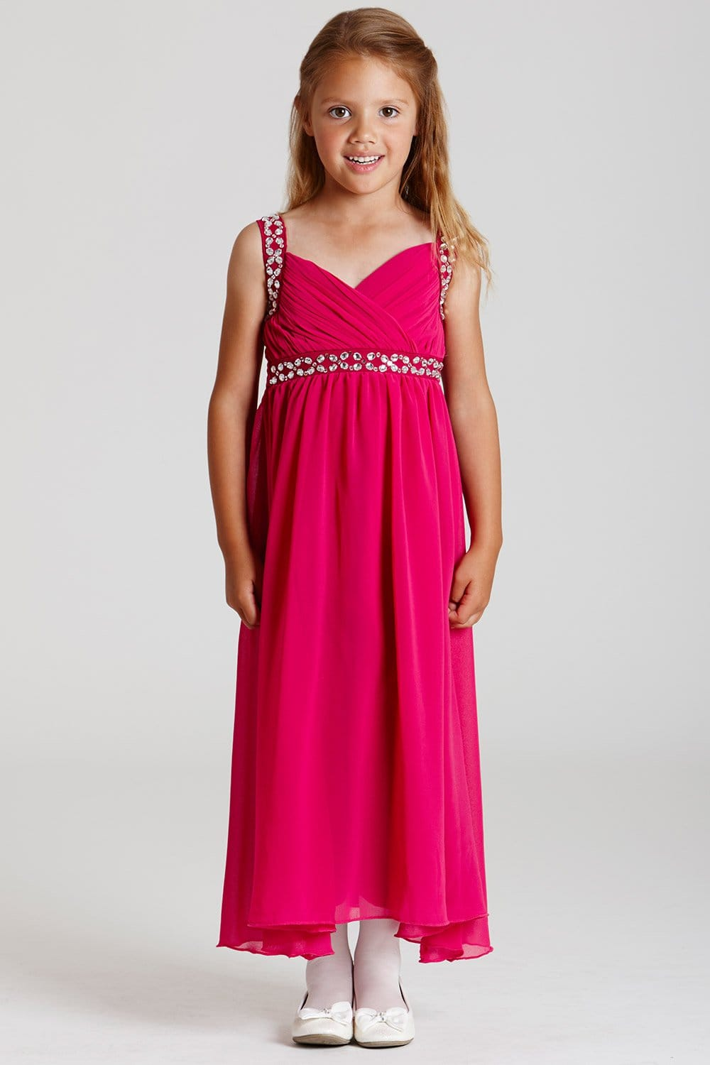 Little MisDress Pink Chiffon Maxi Dress - Little MisDress from ...