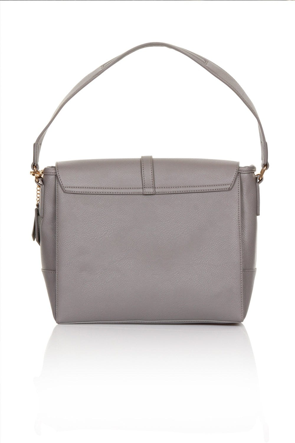 c94cd9de65 Large Grey Suede and Leather Shoulder Bag - from Little Mistress UK