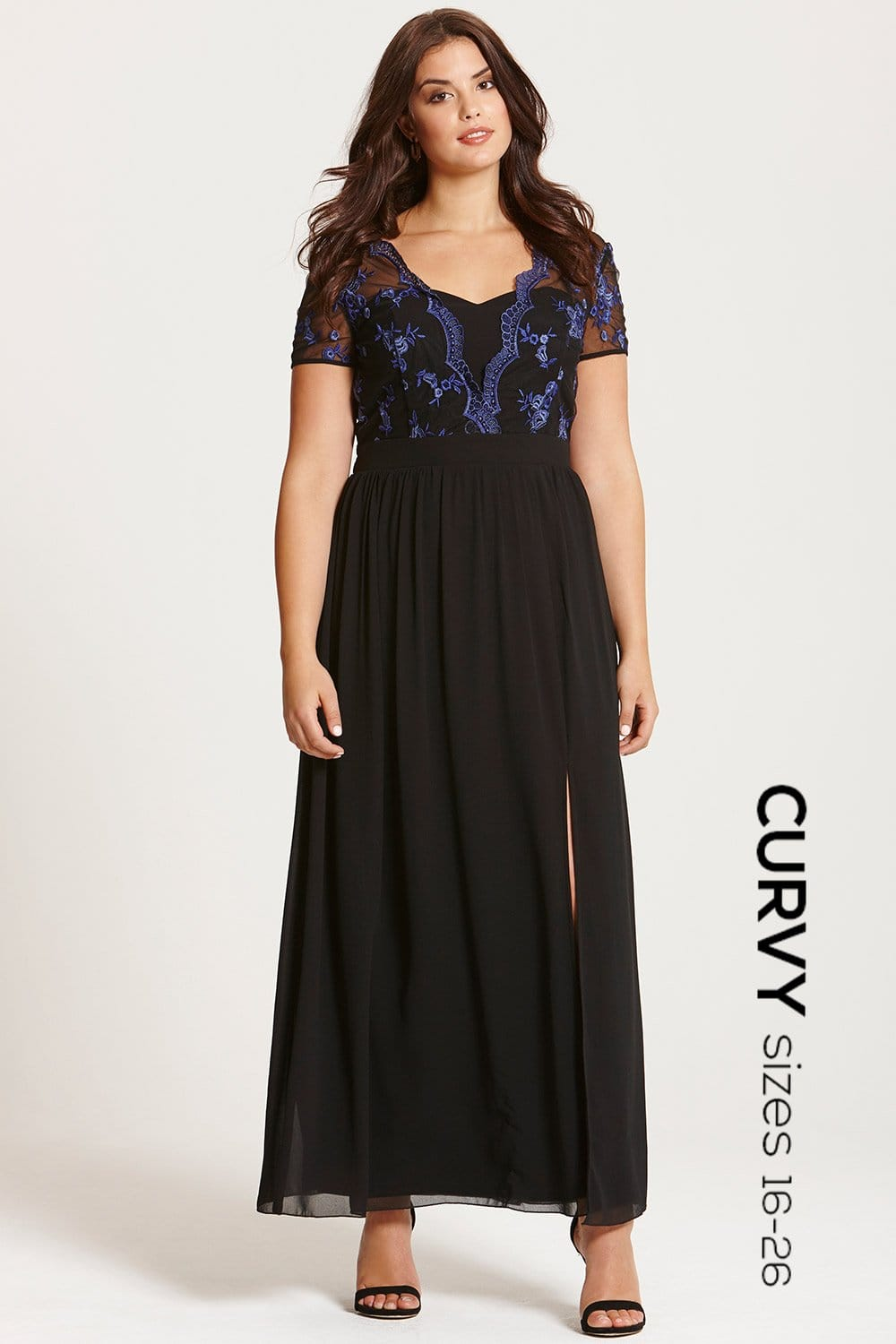 Dress up your standard black maxi dress with pretty much any shoes and accessory. Conversely, a blue maxi dress, red maxi dress, or yellow maxi dress can be worn beautifully with golds, silvers, and other neutral-toned pieces.